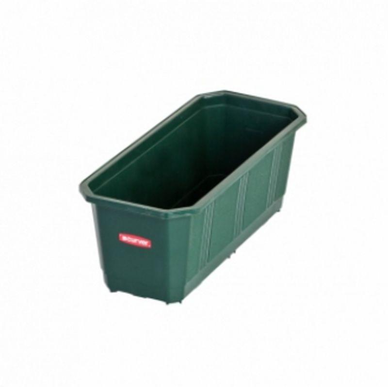 Балконный ящик для цветов 80 см зеленый curver 175840 - купи.